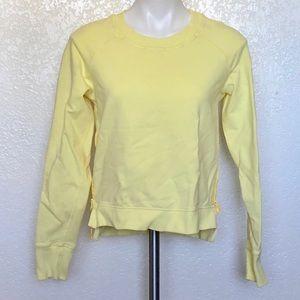 Lululemon yellow sweatshirt sz. 6